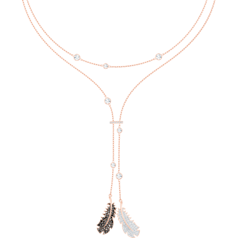Naughty Necklace, Black, Rose-gold tone plated - Swarovski, 5495290
