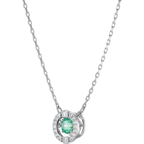 Collar Swarovski Sparkling Dance, verde, Baño de Rodio - Swarovski, 5496308