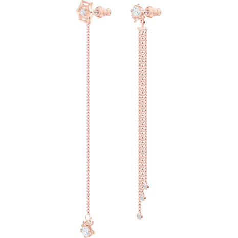 Precisely Ohrringe, weiss, Rosé vergoldet - Swarovski, 5496488