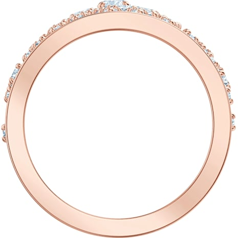 Precisely Motivring, weiss, Rosé vergoldet - Swarovski, 5496490