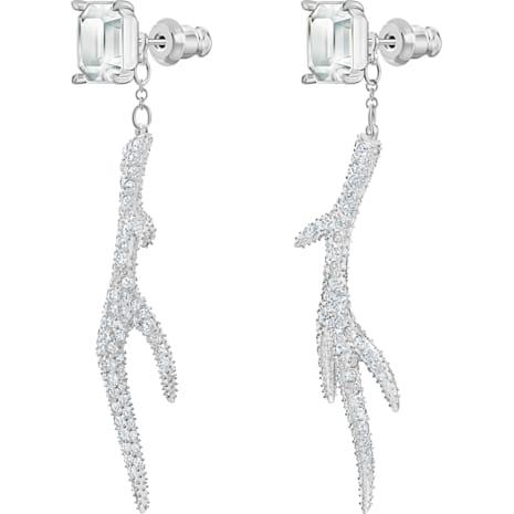 Polar Bestiary Pierced Earrings, Multi-coloured, Rhodium plated - Swarovski, 5497634