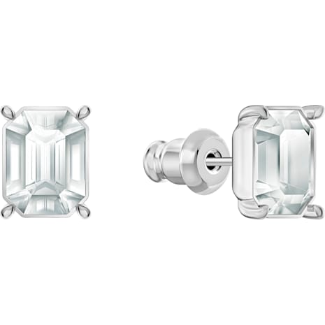 Polar Bestiary Pierced Earrings, Multi-colored, Rhodium plated - Swarovski, 5497634
