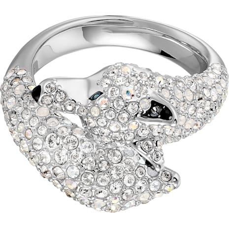 Polar Bestiary Wolf Коктейльное кольцо, Многоцветный Кристалл, Родиевое покрытие - Swarovski, 5497659
