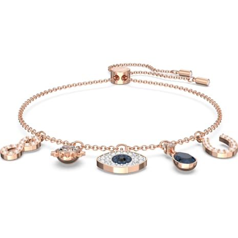 Swarovski Symbolic Bracelet, Multi-colored, Rose-gold tone plated - Swarovski, 5497668