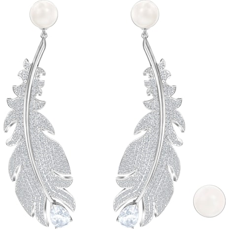 Nice Clip Earrings White Rhodium Plated