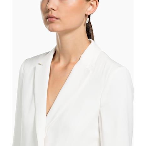 Naughty Hoop Pierced Earrings, White, Rose-gold tone plated - Swarovski, 5497872