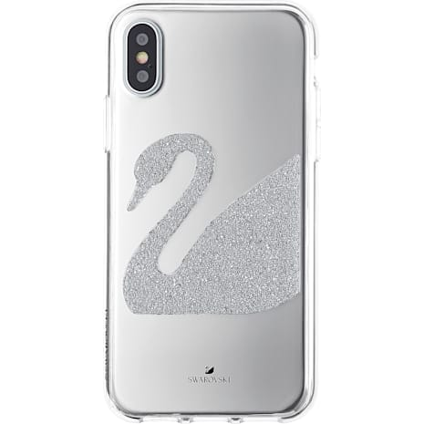 Swan Smartphone Case, iPhone® X/XS, Gray - Swarovski, 5498552
