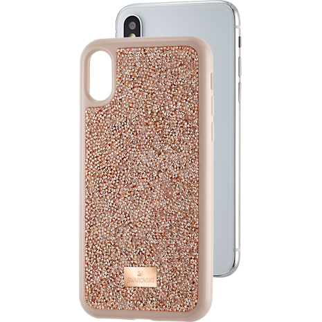 Glam Rock Smartphone Case, iPhone® X/XS, Pink Gold - Swarovski, 5498749