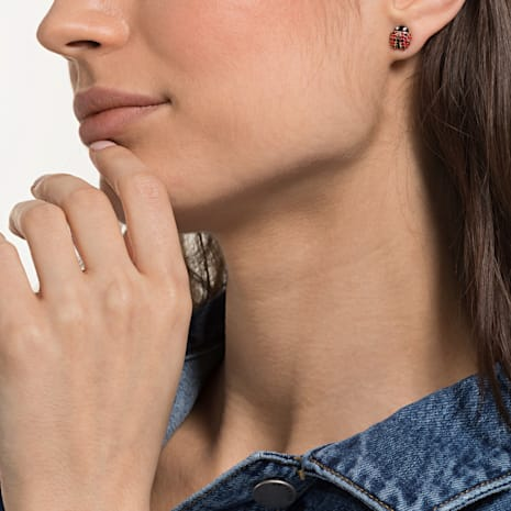 Parure boucles d'oreilles Lisabel, rouge, Métal doré - Swarovski, 5498791