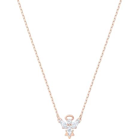 Magic Angel Halskette, weiss, Rosé vergoldet - Swarovski, 5498966