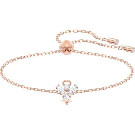 Bracelet Magic Angel, blanc, Métal doré rose - Swarovski, 5498974