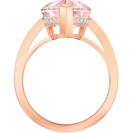 Vintage Cocktail Ring, rosa, Rosé vergoldet - Swarovski, 5498989