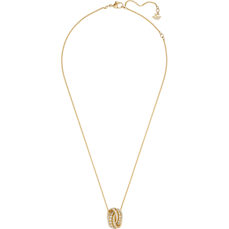 Collier Further, blanc, Métal doré - Swarovski, 5498997