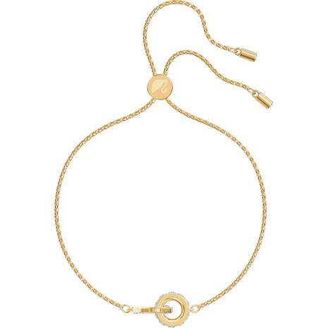 Pulsera Further, blanco, Baño en tono Oro - Swarovski, 5499000