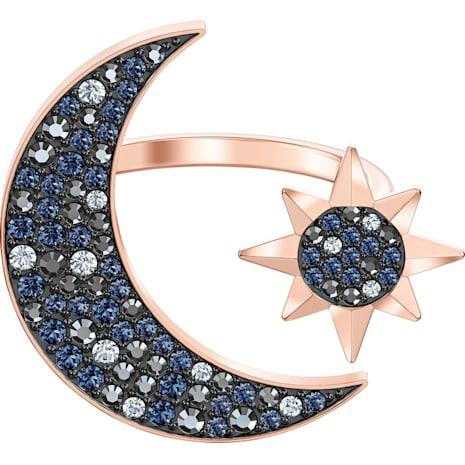 Swarovski Symbolic Moon Ring, mehrfarbig, Rosé vergoldet - Swarovski, 5499613