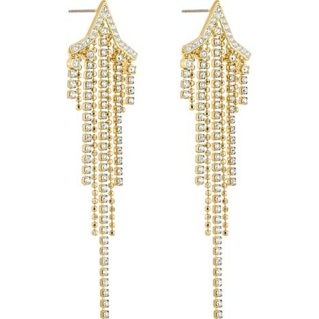 Fit Star , White, Gold-tone plated - Swarovski, 5504571