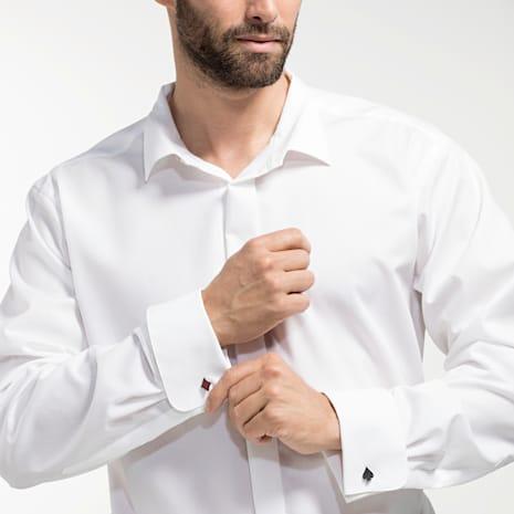 Unisex Tarot Magic Cuff Links, Red, Black PVD - Swarovski, 5504779