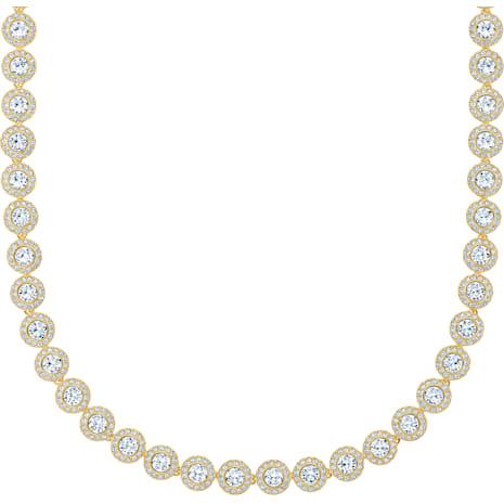 Angelic Kolye, Beyaz, Altın rengi kaplama - Swarovski, 5505468