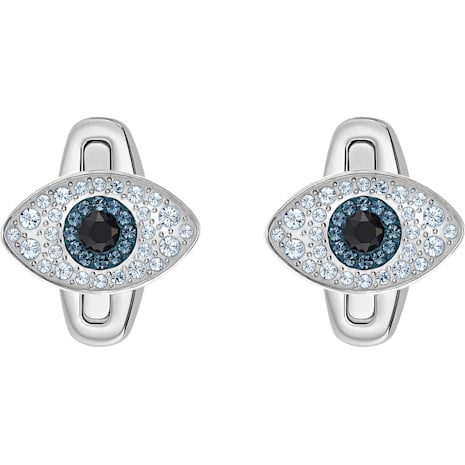 Unisex Evil Eye Cuff Links, Multi-colored, Stainless steel - Swarovski, 5506081