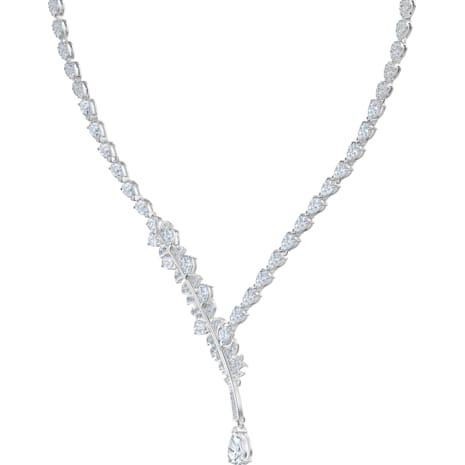 Nice Set, White, Rhodium plated - Swarovski, 5506752