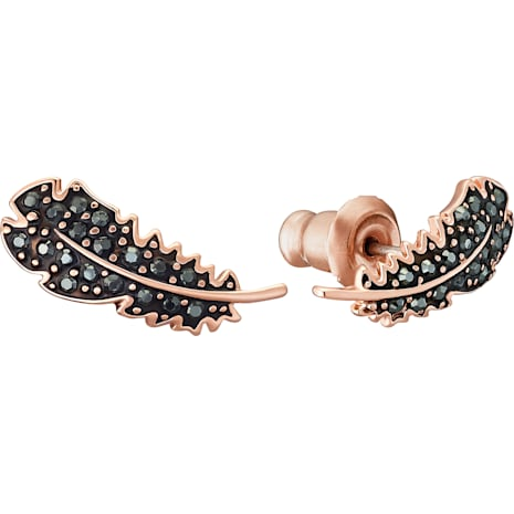 Naughty Set, Black, Rose-gold tone plated - Swarovski, 5506761