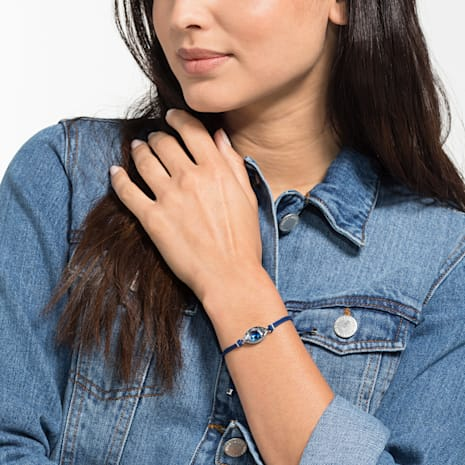 Swarovski Power Collection Evil Eye Bracelet, Blue, Stainless steel - Swarovski, 5506865