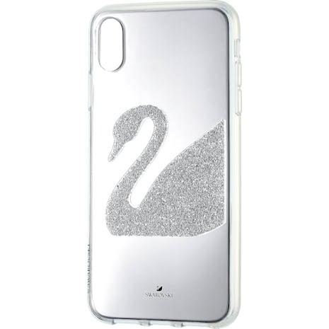 Swan Smartphone Case, iPhone® XR, Gray - Swarovski, 5507390