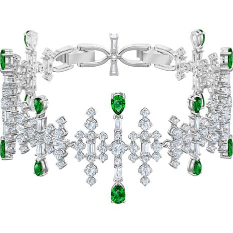 Perfection Armband, grün, Rhodiniert - Swarovski, 5507695