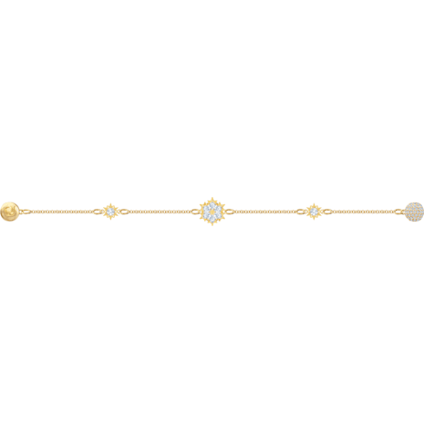 Swarovski Remix Collection Snowflake Strand, White, Gold-tone plated - Swarovski, 5507887