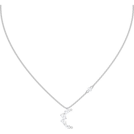 Penélope Cruz Moonsun Necklace, White, Rhodium plated - Swarovski, 5508442