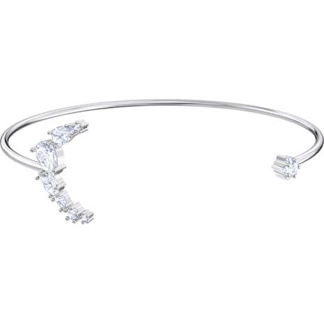 Penélope Cruz Moonsun Cuff, White, Rhodium plated - Swarovski, 5508443
