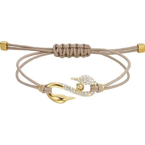 Pulsera Swarovski Power Collection Hook, marrón, Baño en tono Oro - Swarovski, 5508527