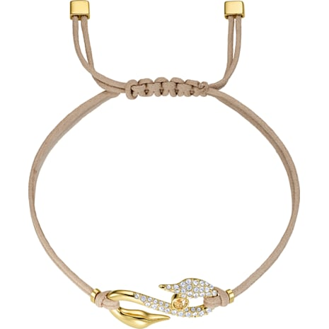 Bracelet Swarovski Power Collection Hook, beige, Métal doré - Swarovski, 5508527
