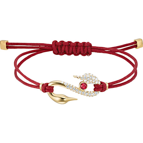 Swarovski Power Collection Hook Bracelet, Red, Gold-tone plated - Swarovski, 5508530