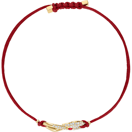 Pulsera Swarovski Power Collection Hook, rojo, Baño en tono Oro - Swarovski, 5508530