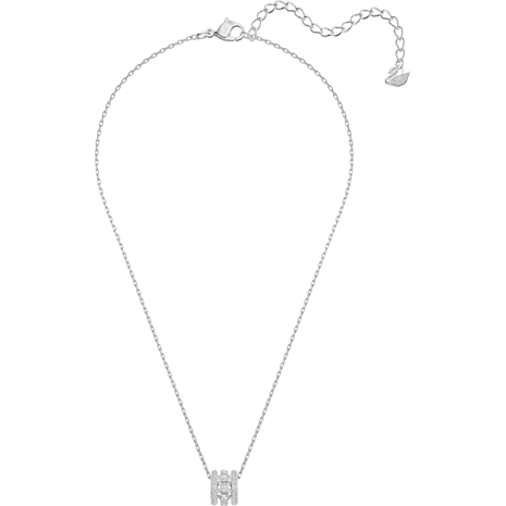 Further 鏈墜, 白色, 鍍白金色 - Swarovski, 5509400