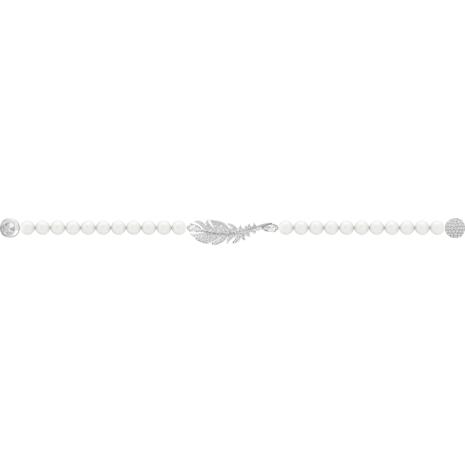 Nice Pearl 브레이슬릿, 화이트, 로듐 플래팅 - Swarovski, 5509723
