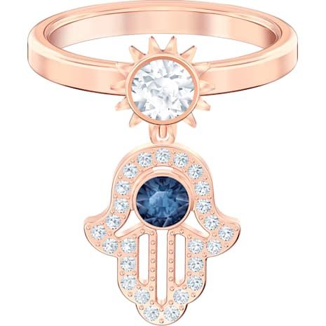 Swarovski Symbolic Кольцо с мотивом, Синий Кристалл, Покрытие оттенка розового золота - Swarovski, 5510068