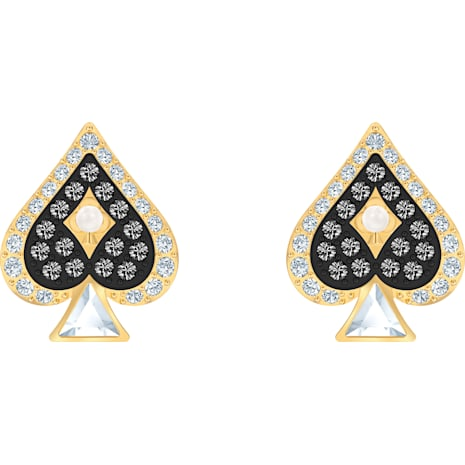 Tarot Magic Stud Pierced Earrings, Multi-coloured, Gold-tone plated - Swarovski, 5510528