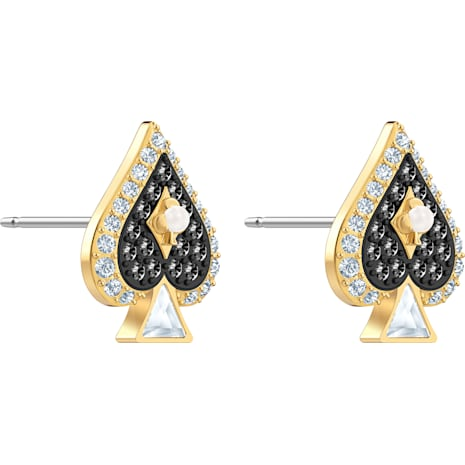 Tarot Magic Stud Pierced Earrings, Multi-colored, Gold-tone plated - Swarovski, 5510528
