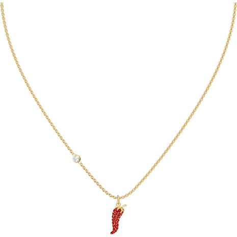 Pendentif Lisabel Pepper, rouge, Métal doré - Swarovski, 5510531