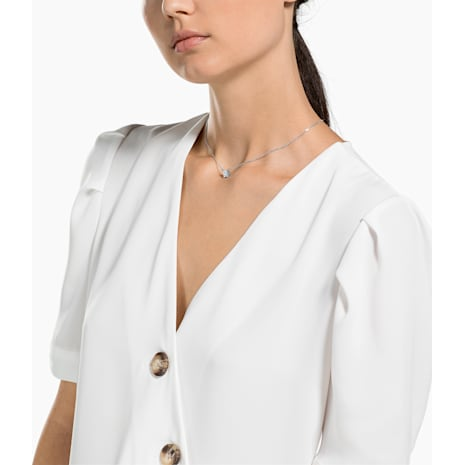 Collier Attract, blanc, Métal rhodié - Swarovski, 5510696
