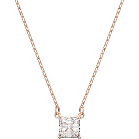 Collana Attract, bianco, Placcato oro rosa - Swarovski, 5510698