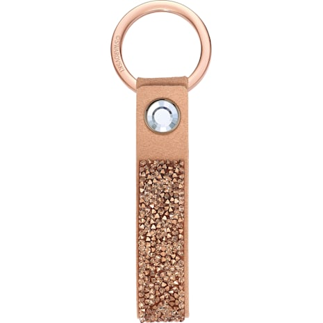 Glam Rock Key Ring, Pink Gold, Rose-gold tone plated - Swarovski, 5510797