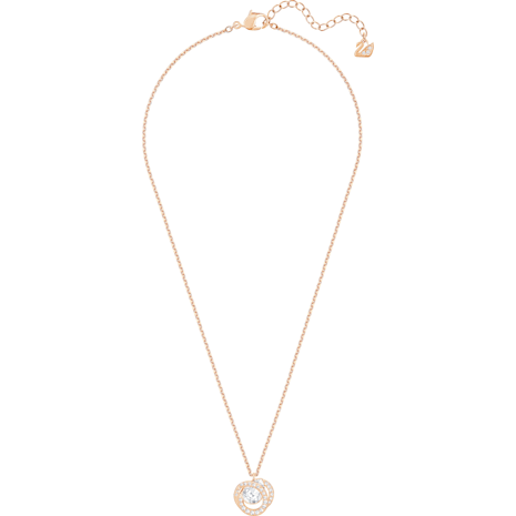 Generation Pendant, White, Rose-gold tone plated - Swarovski, 5511011