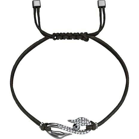 Bracelet Swarovski Power Collection Hook, gris foncé, Métal plaqué ruthénium - Swarovski, 5511777