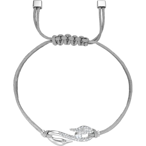 Pulsera Swarovski Power Collection Hook, gris, Baño de Rodio - Swarovski, 5511778
