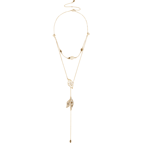 Graceful Bloom Detachable Necklace, Brown, Gold-tone plated - Swarovski, 5511808