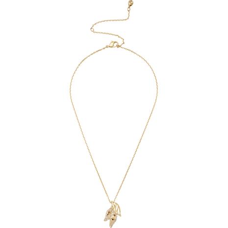Graceful Bloom Anhänger, braun, Vergoldet - Swarovski, 5511813