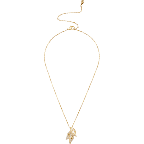 Graceful Bloom Pendant, Brown, Gold-tone plated - Swarovski, 5511813